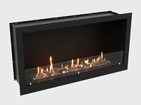 Встроенный биокамин Lux Fire Кабинет 1210 М
