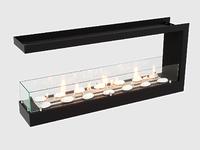 Встроенный биокамин Lux Fire Торцевой 1090 S