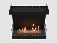 Встроенный биокамин Lux Fire Фронтальный 700 М