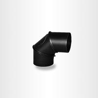 Поворотное колено 0-90° из черного металла с ревизией, Darco, Польша