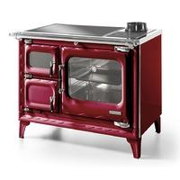 Печь-плита Deva II 100 H, гидроконтур, стеклокер., хром, бордовая (Hergom)
