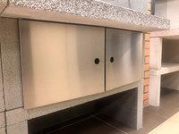 Комплект металлических дверей для барбекю COOKIE, нержавейка (Palazzetti)
