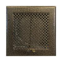 Решетка каминная с клапаном, 170х170 D125, бронза (Megaprom)