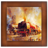 Репродукция картины Ретро Поезда-4