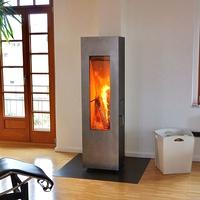 Печь Matrix, черная/дверь нерж.сталь (Concept Feuer)