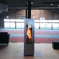 Печь Matrix, черная/дверь нерж.сталь, поворотная (Concept Feuer)