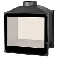 Топка LCI 5 GDF BG, двусторонняя, черное стекло (Liseo Castiron)