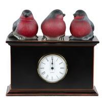 Часы настольные / каминные Нуар - 2 (серия снегири)
