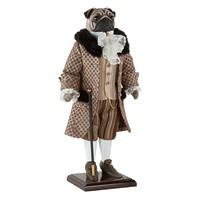 Собака Мопс Джеймс - коллекционная кукла