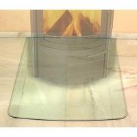 Предтопочный лист, сегментная арка, стекло (Hark)