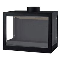 Печь L72 RL, два боковых стекла, черная (Liseo)