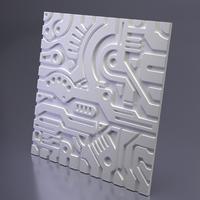 3D панель гипсовая EX-MACHINA B, Artpole, Россия