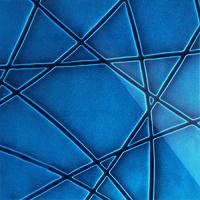 Стеклянная панель Nets 3D синий 600 х 600 мм, Artpole, Россия