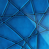 Стеклянная плитка Nets 3D синий 300 х 200 мм, Artpole, Россия