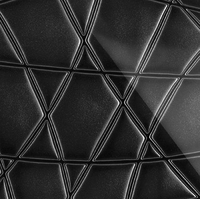 Стеклянная плитка Nets 3D черный 300 х 200 мм, Artpole, Россия