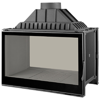 Топка LCI 9 GDF BG, двусторонняя, черное стекло (Liseo Castiron)