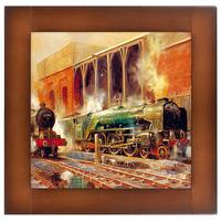 Репродукция картины Ретро Поезда-1