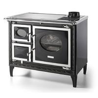 Печь-плита Nansa II H, гидроконтур, стеклокер., хром, черная (Hergom)