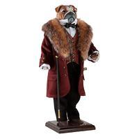 Собака бульдог Джон Стюарт Милль - коллекционная кукла