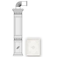 Колонна керамическая 121,5 см, цвет L1: white craquele (Sergio Leoni)