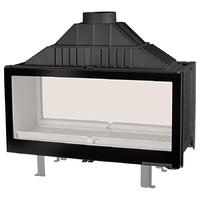 Топка LCI 11 GDF BG, двусторонняя, черное стекло (Liseo Castiron)