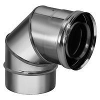 Отвод коаксиальный 90° D80/130 (Вулкан)