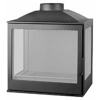 Топка L5 RL, два боковых стекла, черная (Liseo)