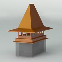 Флюгарка для дымохода четырехскатная
